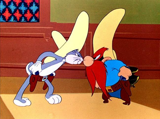 Bugs Bunny, Yosemite Sam, compromise