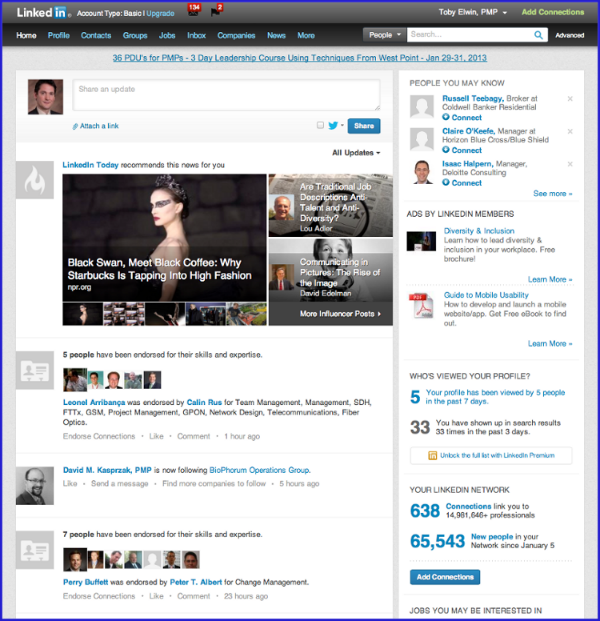 Toby Elwin, community persona, portal, SharePoint, user interface, design, LinkedIn