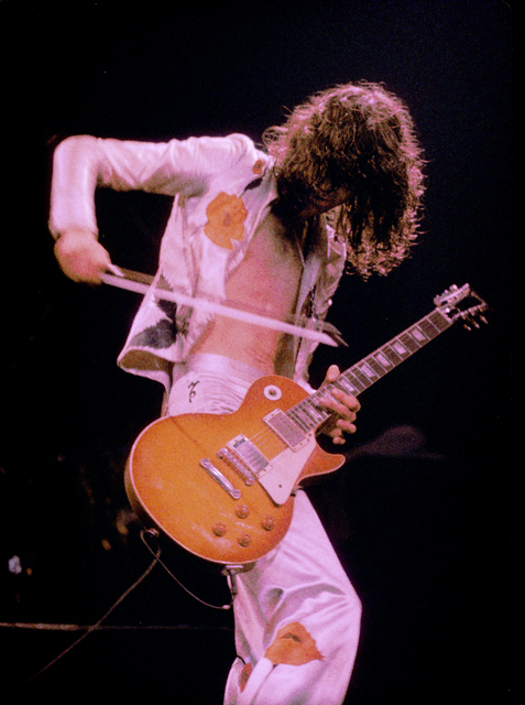 Led Zeppelin project management, Page, bow