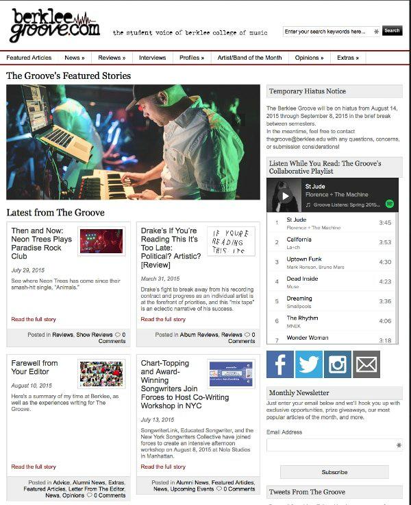 Berklee College of Music, Berklee Groove, Toby Elwin